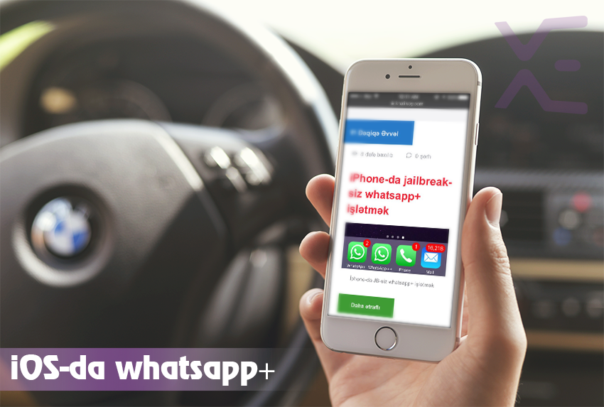 iPhone-da jailbreak-siz whatsapp+ işlətmək OIHA001